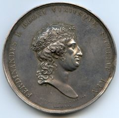 MEDAGLIA arg.1825 per la MORTE FERDINANDO I di borbone[2].JPG