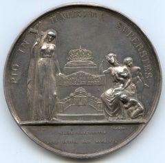 MEDAGLIA arg.1825 per la MORTE FERDINANDO I di borbone rov[2].JPG