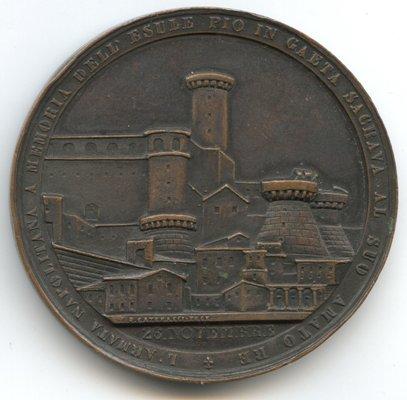 medaglia 1848 per l\'esilio del papa pio IX a gaeta rov 1.jpg