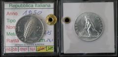 """2 lire 1950 """"Spiga"""" (Cancro al Rovescio) qFdc / Fdc"""