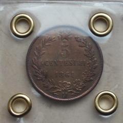 5 Centesimi 1861 - BB