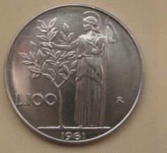 100 Lire 1961 qFdc.