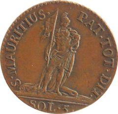 5 soldi 1794 (rovescio)