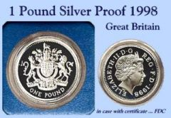 1 POUND SILVER PROOF 1998