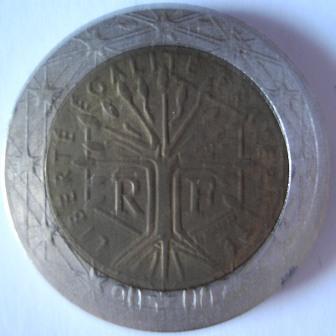 Francia 2 euro, rovescio