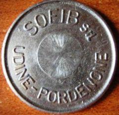 Gettone Sofib s.r.l. per bevande calde Udine