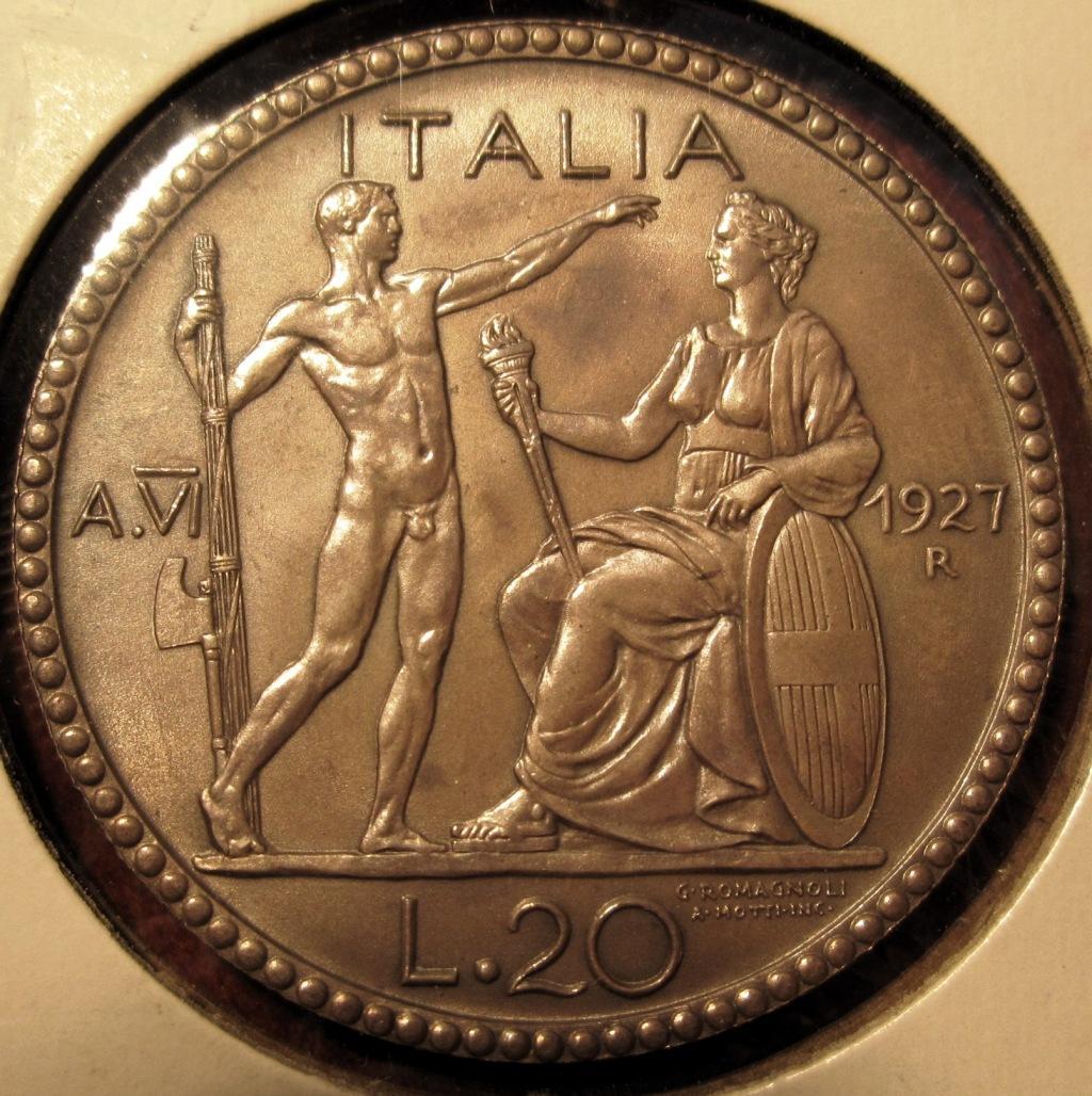 20 Lire 1927 Littore   Reverse.JPG