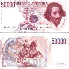 Ciquantamila lire Bernini II tipo II tipo