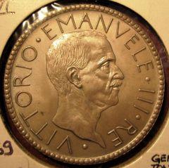 20 Lire 1927 VI Littore -Obverse