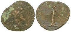 Claudio II il Gotico, radiato barbarico, 54 irregolari nell'hoard