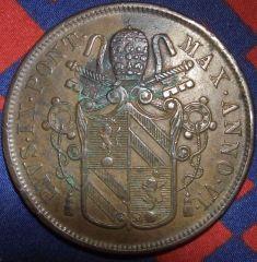 Pio IX 5 baiocchi 1952 anno VI zecca di Bologna Dritto