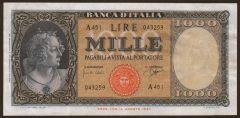 1000 Lire Testa ornata di perle - Medusa - Decreto 25/09/1961  - FRONTE -