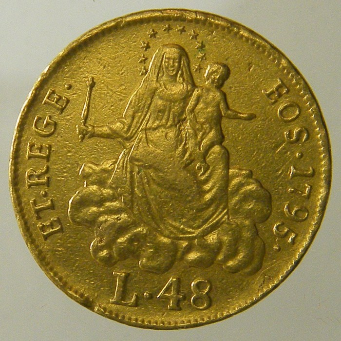 48 Lire 1795 D ( stemma nuovo )
