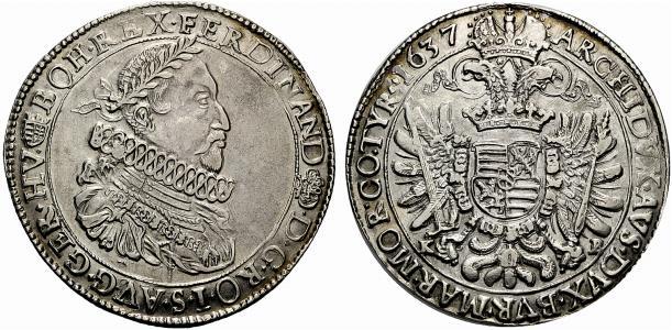Ferdinado II Thaler 1637 Kremnitz