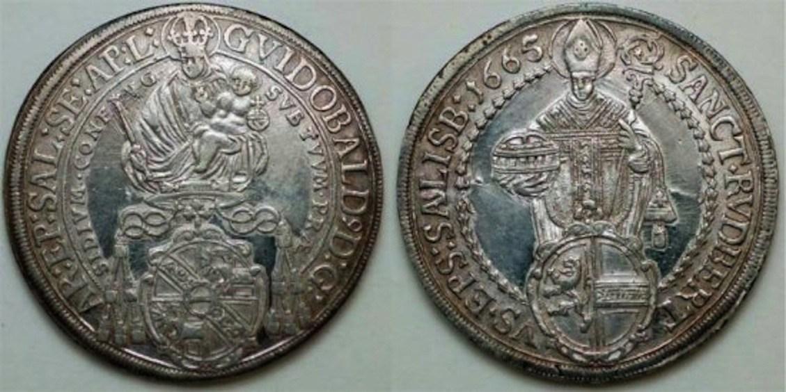 Tallero GuidoBald 1665 Salisburgo