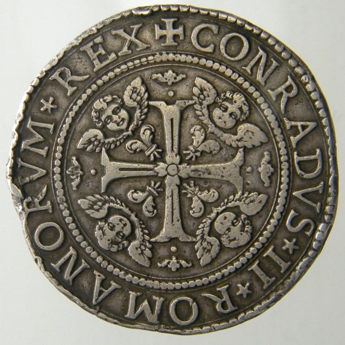 2 Scudi largo 1633 Castello e corona alta R ( variante senza iniziali zecchiere )
