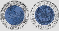 25 € Silber-Niob 2003 Austria 700 anni città Hall