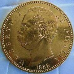100 Lire 1883 Umberto I  d