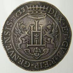 2 Scudi largo 1633 Castello e corona alta D ( variante senza iniziali zecchiere )