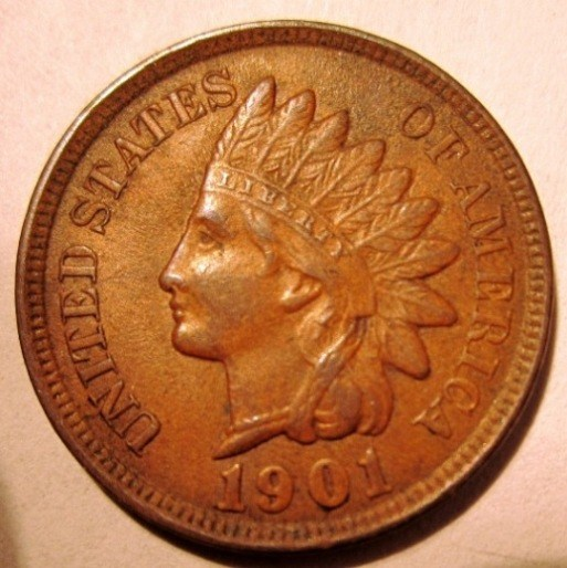 1 Cent 1901    United States Of America    Obverse