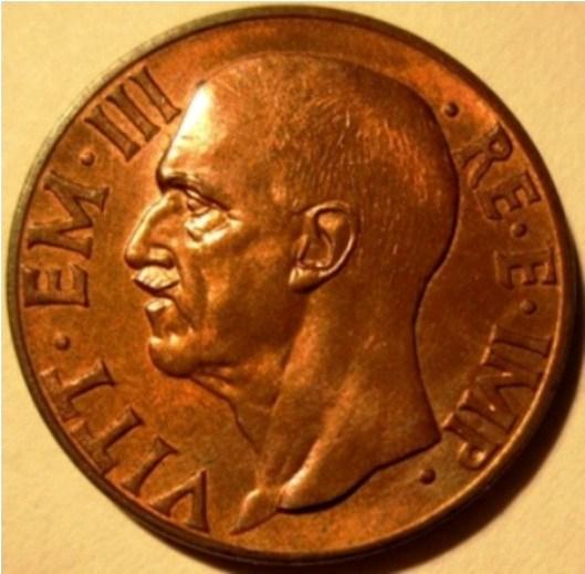 10 Centesimi 1939 Impero  1 Tipo   Obverse