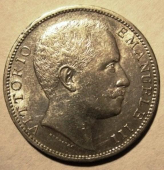 2 Lire 1906 Aquila Sabauda      Obverse