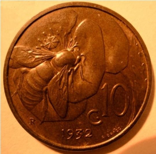 10 Centesimi 1932 Ape   Reverse