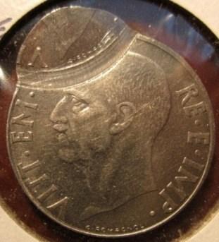 20 Centesimi 1939  A.XVII  Antimagnetica  Bernoccolo  Obverse==