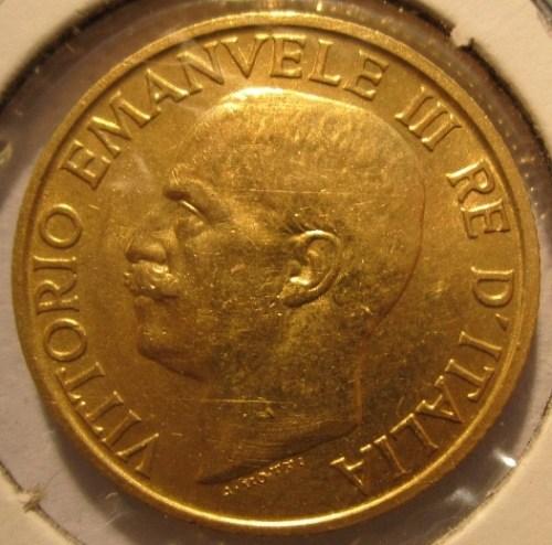 20 Lire 1923 R   Fascetto      Obverse