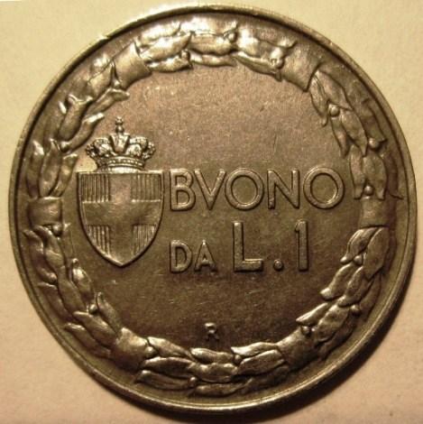 1 Lira 1928 R  Nichelio   Patinato Scuro  Reverse