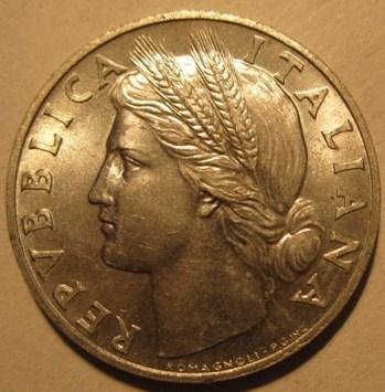 1 Lira 1946 R   Obverse