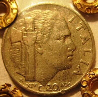 20 Centesimi 1936    Impero   Reverse=
