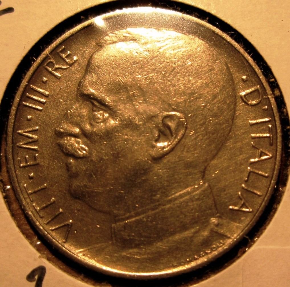 50 Centesimi 1924  Rigato Obverse
