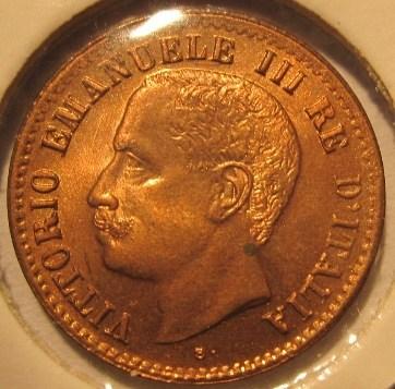 1 Centesimo 1905  Obverse  5 Basso=