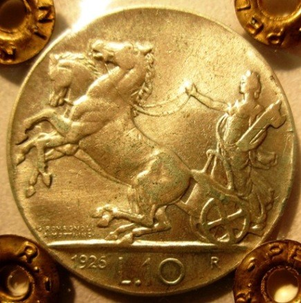 10 Lire 1926 R     Biga   Reverse