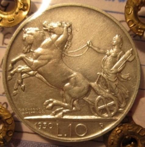 10 Lire 1930 R     Biga    Reverse=