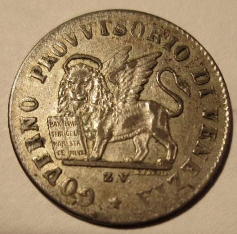 15 Centesimi 1848 Republica Rivoluzionaria Veneta  Obverse