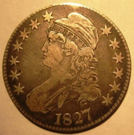 United States Of America    50 Cents 1827     Obverse