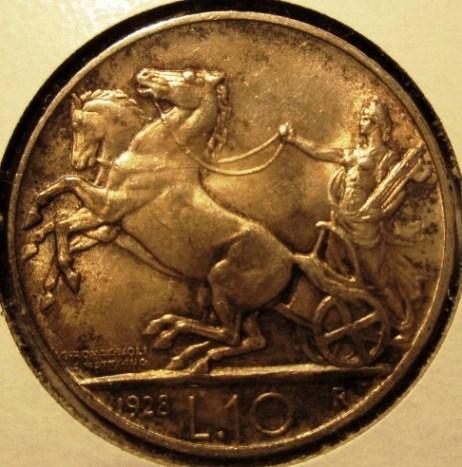 10 Lire 1928 R   Biga Reverse=