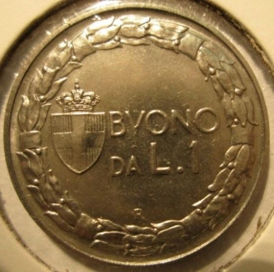 1 lira 1921 Prova   Reverse