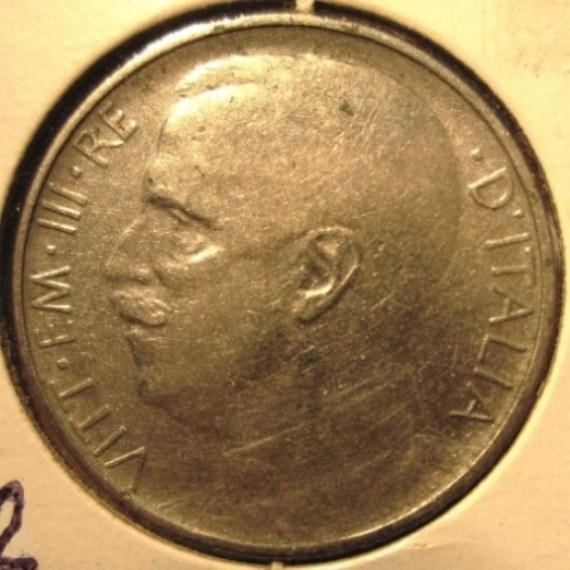 50 Centesimi 1921 Leoni   Bordo Rigato  Obverse