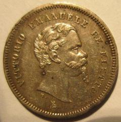 50 Centesimi 1860 F VEII Re Eletto   Obverse