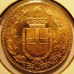 20 Lire 1882 R  Umberto I    Reverse