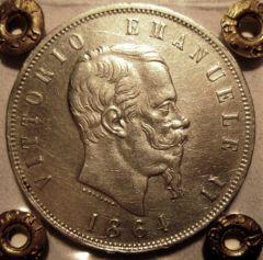 5 Lire 1864 N   Obverse
