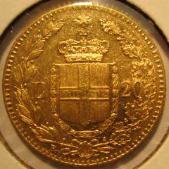 20 Lire 1879 R  Umberto I   Reverse