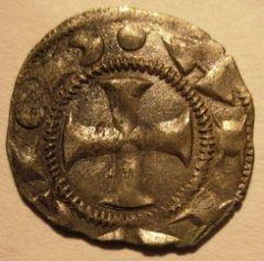 Siena  Denaro 1250 1265   S Rovesciata MIR 475   Reverse