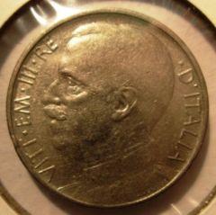 50 Centesimi 1920 Leoni   Bordo Rigato Obverse