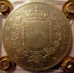 5 Lire 1861 T   Reverse