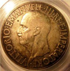 20 Lire 1936 Impero- Quadriga Lenta- Obverse