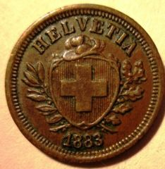 1 Rappen 1883 B  Obverse